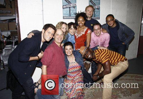 Backstage at the Broadway play 'Clybourne Park' at...