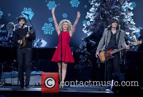 The Band Perry performing at the 2012CMA Country...