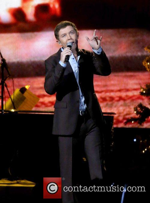 Scotty McCreery performing at the 2012CMA Country Christmas...