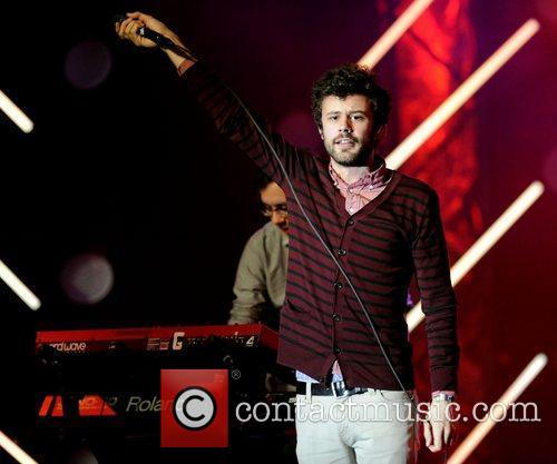 Michael Angelakos of Passion Pit  performs on...