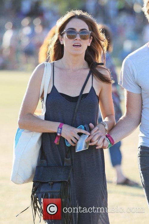 Nikki Reed Celebrities at the 2012 Coachella Valley...