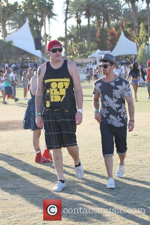 Joe Jonas Celebrities at the 2012 Coachella Valley...
