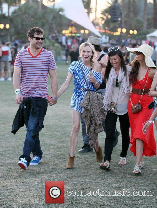 Diane Kruger and Joshua Jackson Celebrities at the...