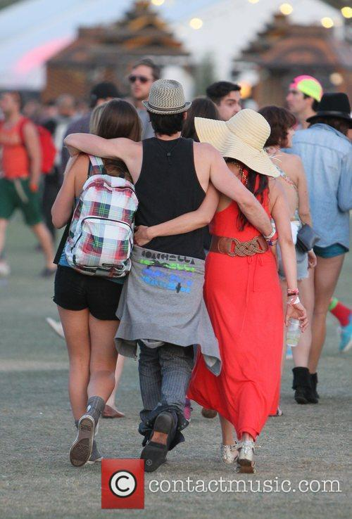 Nina Dobrev, Ian Somerhalder and Coachella 1
