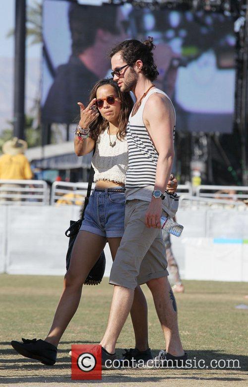 Zoe Kravitz, Penn Badgley and Coachella 1