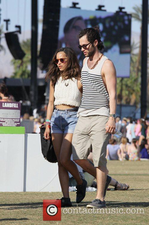 Zoe Kravitz, Penn Badgley and Coachella 3