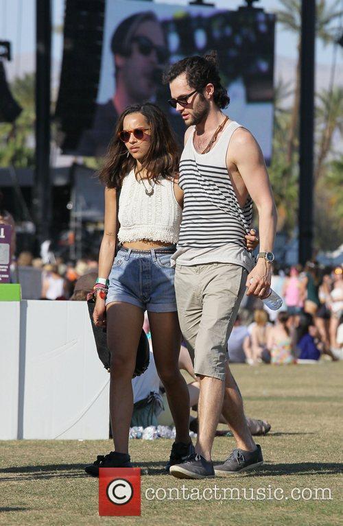 Zoe Kravitz, Penn Badgley and Coachella 4