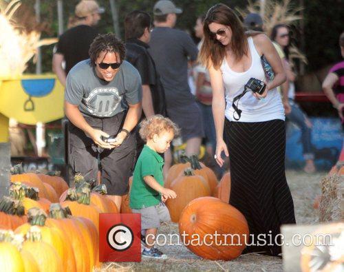Cobi Jones with his family at Mr. Bones...