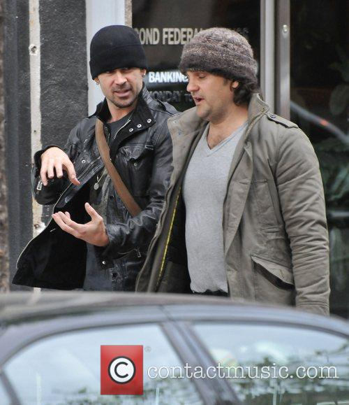 Colin Farrell walking to the gym inbetween takes...