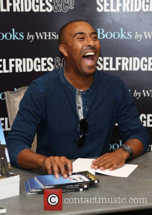 Colin Jackson signs copies of his book My...