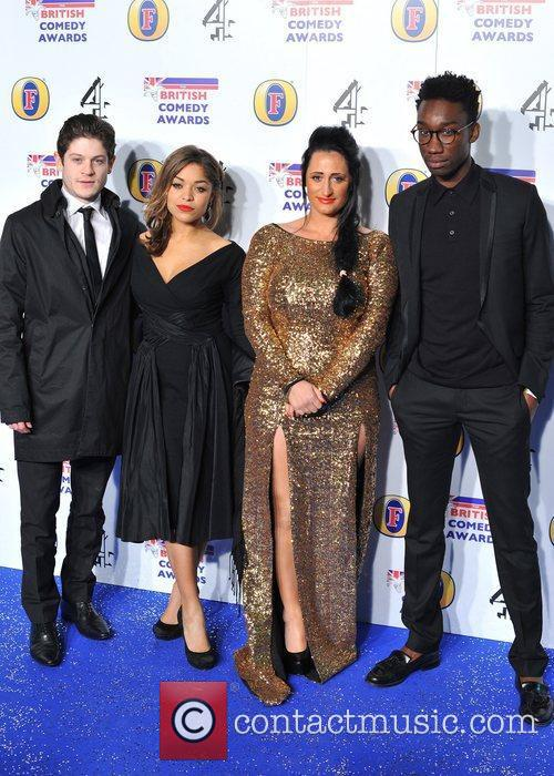 Cast of Misfits British Comedy Awards held at...