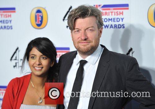 Konnie Huq and Charlie Brooker British Comedy Awards...