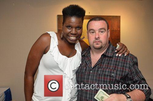 Leslie Big Les Jones and A.G. White backstage...