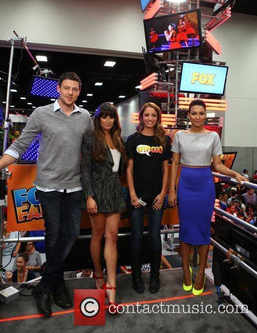 Lea Michele, Cory Monteith and Naya Rivera 1