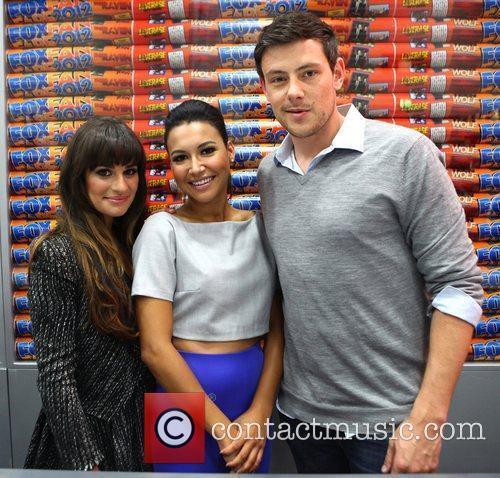 Lea Michele, Cory Monteith and Naya Rivera 2