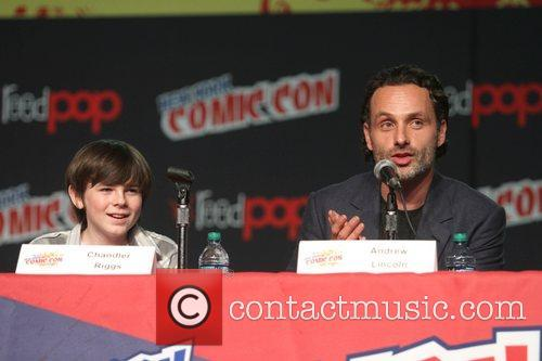 Chandler Riggs and Andrew Lincoln 2