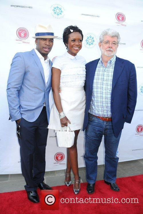 Ne-yo, George Lucas and Mellody Hobson 2