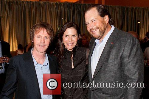 Dana Carvey, Lynne Benioff and Marc Benioff