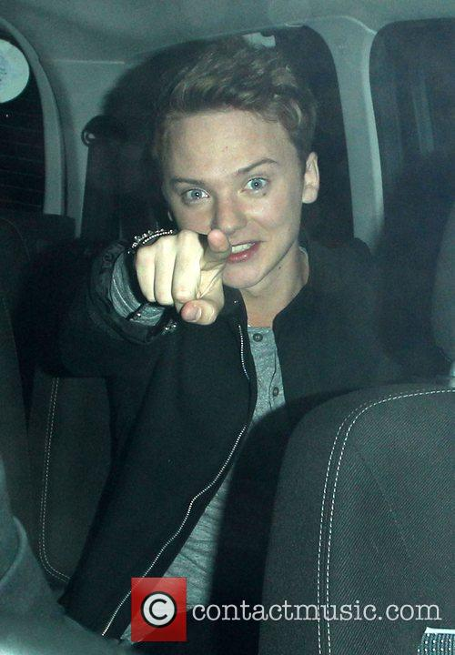 Conor Maynard leaving Riverside Studios after filming 'Celebrity...