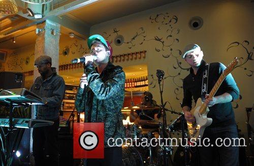 Conor Maynard performs at a secret show at...