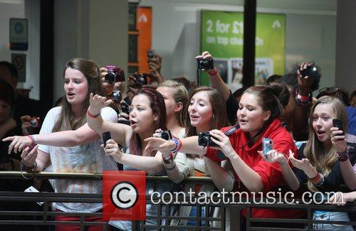 Fans Connor Maynard meets fans and signs copies...