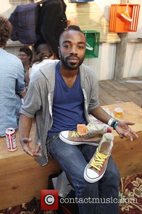 Blaqstarr at the Converse Fader Fort During the...