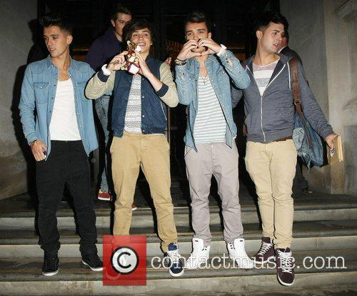 Union J, Left, Jamie, Hamblett, George Shelley, Josh Cuthbert and Jaymi Hensley 2