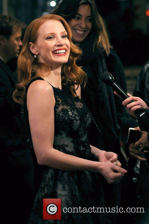 Jessica Chastain,  at the New York premiere...