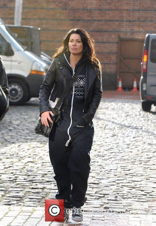 Alison King leaving Granada studios wearing a onesie...