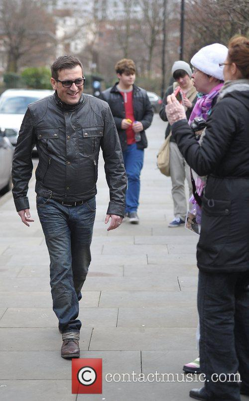 Chris Gascoyne 'Coronation Street' cast outside Granada Studios...
