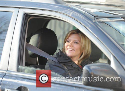 Jane Danson 'Coronation Street' cast outside Granada Studios...