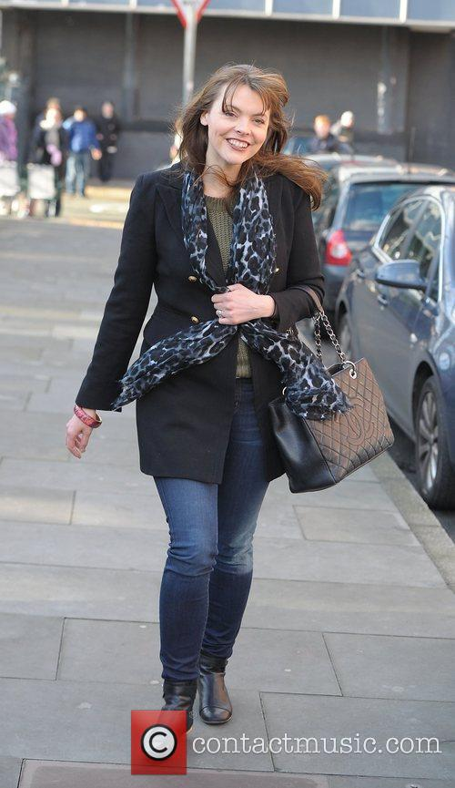 Kate Ford 'Coronation Street' cast outside Granada Studios...