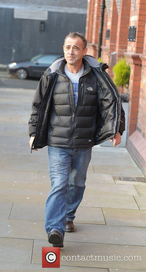 Michael Le Vell 'Coronation Street' cast outside Granada...