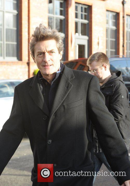 Nigel Havers 'Coronation Street' cast outside Granada Studios...