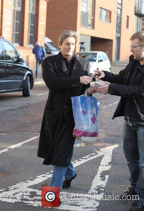 'Coronation Street' cast outside Granada Studios
