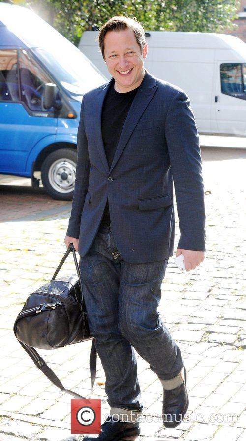 Tony Hirst leaves the set of coronation street