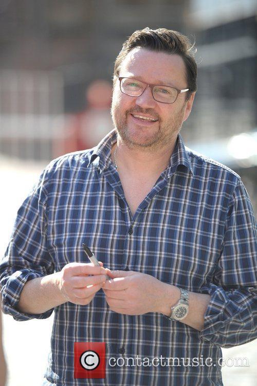 Ian Pulson Davies  'Coronation Street' cast outside...