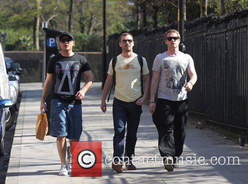 Ryan Thomas, Charlie Condou, Chris Fountain and Granada Studios 3