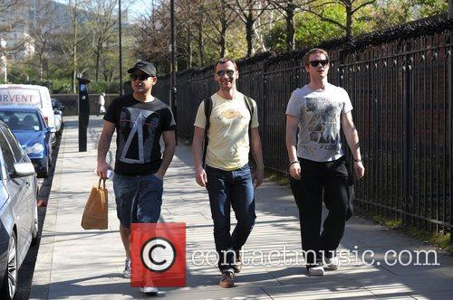 Ryan Thomas, Charlie Condou, Chris Fountain and Granada Studios 4