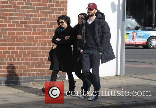 Kym Marsh with Alison King and her fiance...