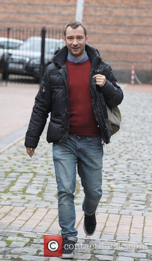 Charlie Condou outside Granada Studios Manchester Manchester, England