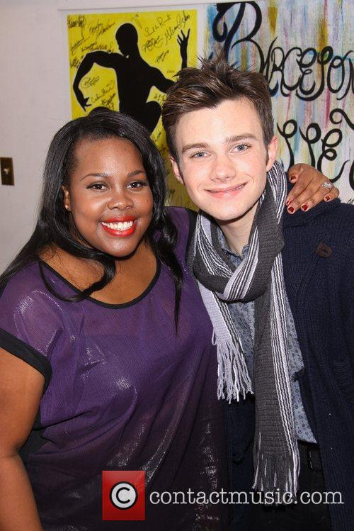 Amber Riley and Chris Colfer 3