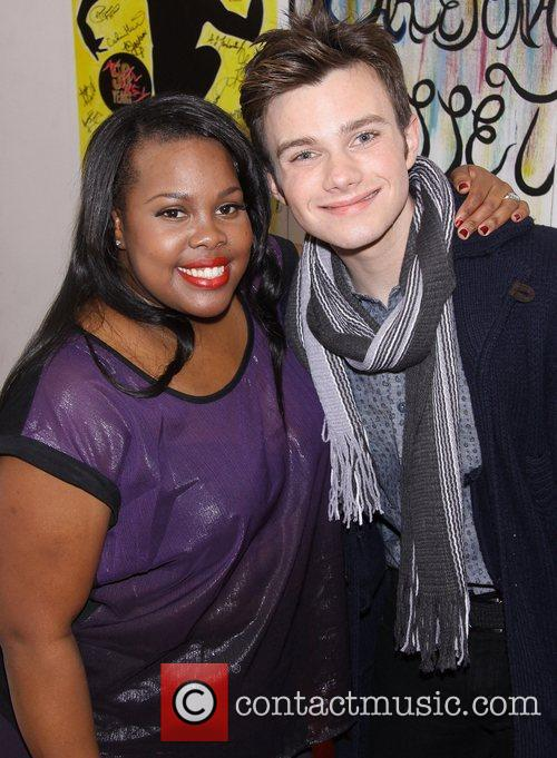 Amber Riley and Chris Colfer 1