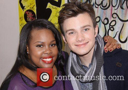 Amber Riley and Chris Colfer 7