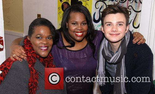 Tiny Riley, Amber Riley and Chris Colfer 1