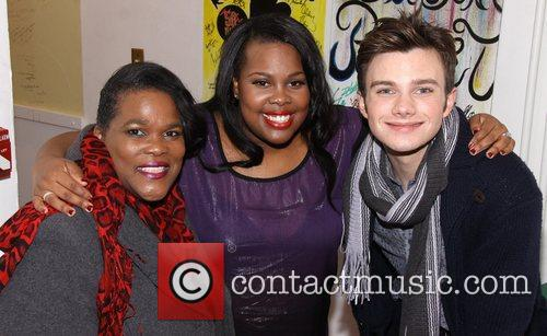 Tiny Riley, Amber Riley and Chris Colfer 2