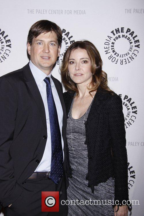 Bill Lawrence and Christa Miller  Cougar Town's...