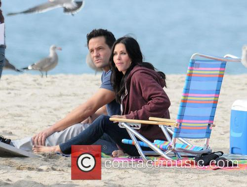 Courteney Cox, Brian Van Holt, Cougar Town and Venice Beach 1