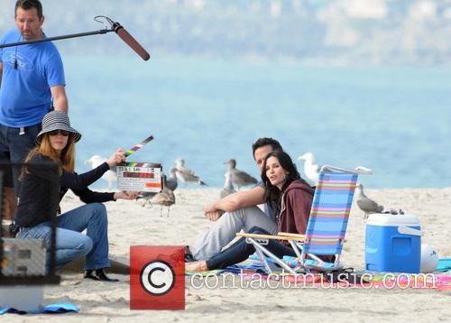 Courteney Cox, Josh Hopkins, Cougar Town and Venice Beach 1