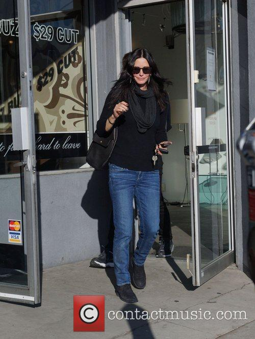 Courteney Cox leaving a store on Melrose Avenue...